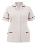 Ladies Healthcare Tunic (Sizes 8 - 30, 18 Colours or Variations - White)